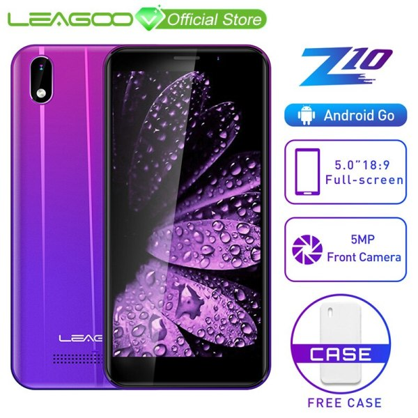 "LEAGOO Z10 Android Mobile Phone 5 0 18 9 Full Screen 1GB RAM 8GB ROM MT6580 LEAGOO Z10 Android Mobile Phone 5.0"" 18:9 Full Screen 1GB RAM 8GB ROM MT6580 Quad Core 2000mAh 5MP Camera Dual SIM 3G Smartphone"