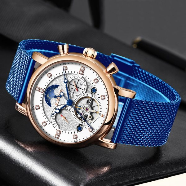 LIGE Gift Mens Watches Brand Luxury Fashion Tourbillon Automatic Mechanical Watch Men Stainless Steel watch Relogio 2 LIGE Gift Mens Watches Brand Luxury Fashion Tourbillon Automatic Mechanical Watch Men Stainless Steel watch Relogio Masculino