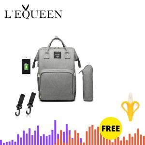 Lequeen USB Mummy Maternity Nappy Bag Brand Large Capacity Baby Bag Travel Backpack Designer Nursing Bag Innrech Market.com