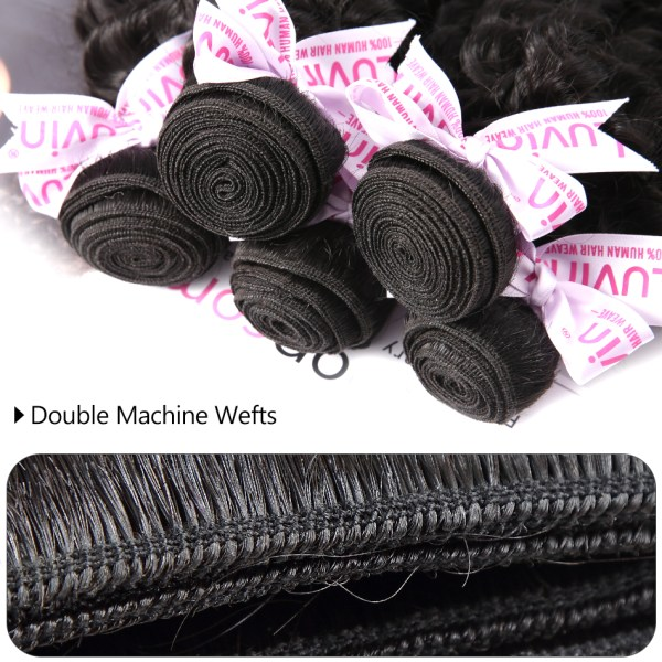Luvin Deep Wave 28 30 inch 3 4 Bundles With 5x5 Lace Closure and 13x4 Frontal 4 Luvin Deep Wave 28 30 inch 3 4 Bundles With 5x5 Lace Closure and 13x4 Frontal Brazilian Human Hair Weave Curly Remy Water Wave