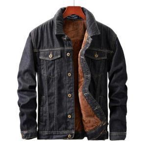 MORUANCLE Men s Winter Warm Jean Jackets And Coats Fleece Lined Thicken Thermal Denim Trucker Jacket Innrech Market.com