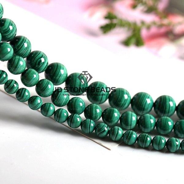 Natural Malachite Beads Dark Green Color 4 6 8 10mm Pick Size Semi precious stones Accessories 2 Natural Malachite Beads Dark Green Color 4 6 8 10mm Pick Size Semi-precious stones Accessories For Jewelry Making