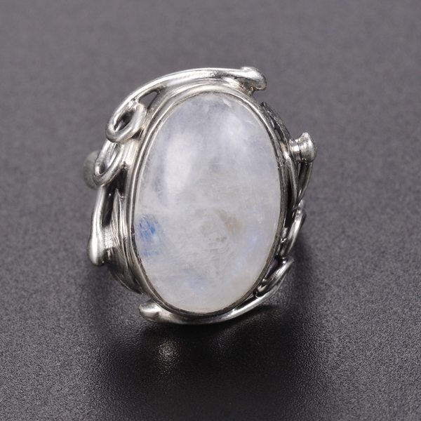 Natural Moonstone rings For Men Women s 925 Sterling Silver Jewelry Ring With Big Stones 11x17MM 2 Natural Moonstone rings For Men Women's 925 Sterling Silver Jewelry Ring With Big Stones 11x17MM Oval Gemstones Gifts Wholesale