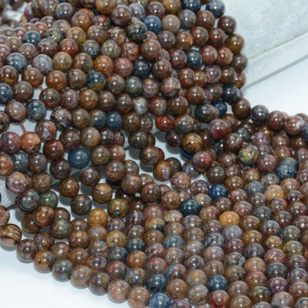 Natural Pietersite Stone Loose Round Beads 8mm 10mm 3 Natural Pietersite Stone Loose Round Beads 8mm / 10mm
