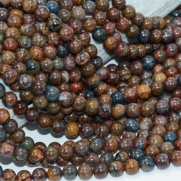 Natural Pietersite Stone Loose Round Beads 8mm 10mm 4 Natural Pietersite Stone Loose Round Beads 8mm / 10mm