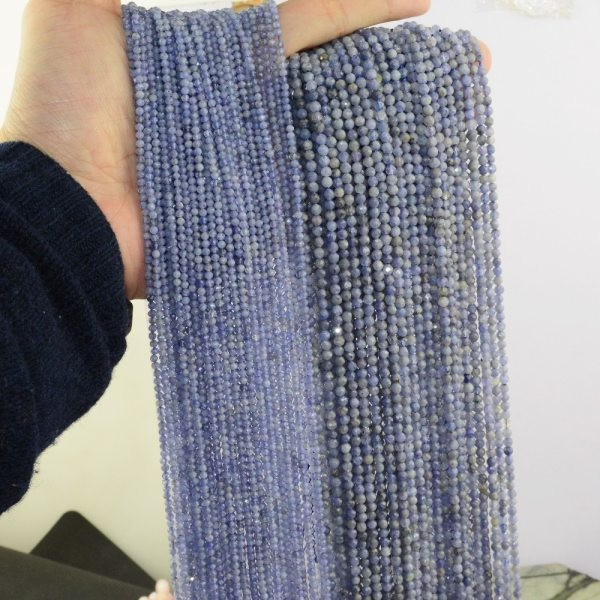Natural Tanzanite Faceted Loose Round Beads 2 2mm 3 5mm 4mm Natural Tanzanite Faceted Loose Round Beads 2.2mm / 3.5mm / 4mm