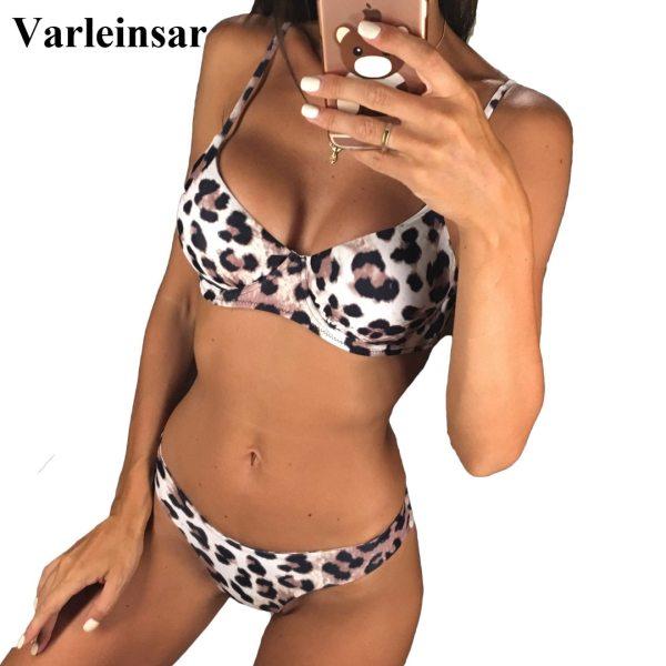 New Sexy Leopard 2019 Bikini Women Swimwear Female Swimsuit Two pieces Bikini set Underwire Bather Bathing New Sexy Leopard 2019 Bikini Women Swimwear Female Swimsuit Two-pieces Bikini set Underwire Bather Bathing Suit Swim Wear V872