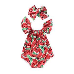 Newborn Infant Baby Girl Floral Print Off Shoulder Short Sleeve Romper Jumpsuit Outfit Playsuit Summer Cotton Innrech Market.com
