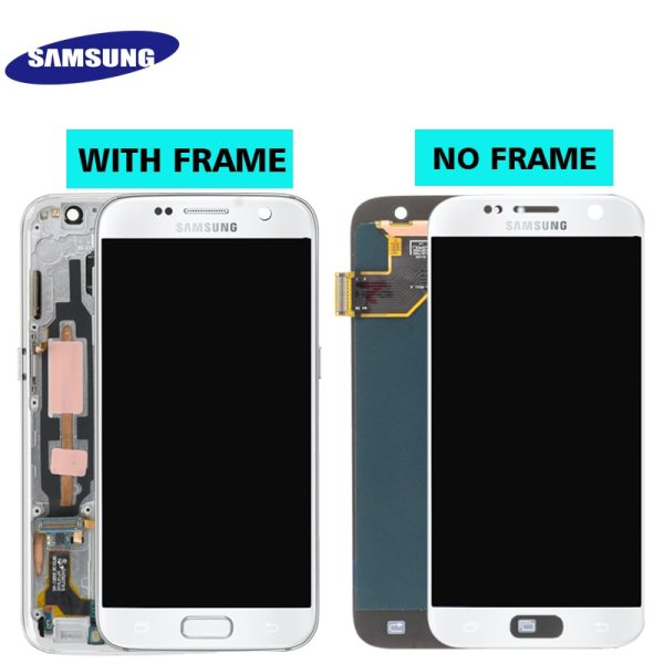 ORIGINAL 5 1 SUPER AMOLED LCD For Samsung Galaxy S7 G930 SM G930F G930F LCD Display 1 ORIGINAL 5.1'' SUPER AMOLED LCD For Samsung Galaxy S7 G930 SM-G930F G930F LCD Display With Touch Screen Digitizer Replacement