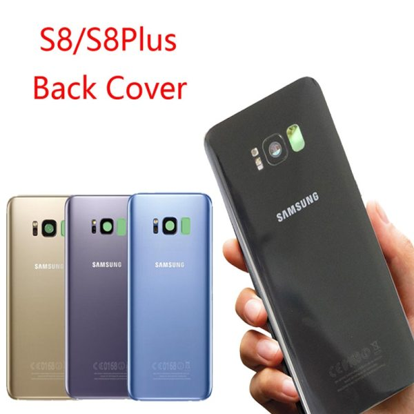 ORIGINAL Back Glass for SAMSUNG Galaxy S8 G950 G950F Display S8 Plus G955 G955F Battery Cover ORIGINAL Back Glass for SAMSUNG Galaxy S8 G950 G950F Display S8 Plus G955 G955F Battery Cover Rear Door Housing with Camera Lens
