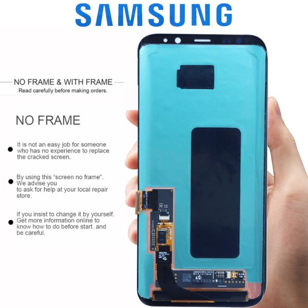 ORIGINAL SUPER AMOLED S8 LCD with Frame for SAMSUNG Galaxy S8 G950 G950F Display S8 Plus 2 ORIGINAL SUPER AMOLED S8 LCD with Frame for SAMSUNG Galaxy S8 G950 G950F Display S8 Plus G955 G955F Touch Screen Digitizer