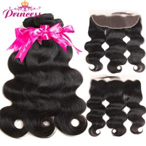 Princess 13x4 Lace Frontal Closure With Bundles Remy Brazilian Body Wave Human Hair Bundles With Frontal Innrech Market.com