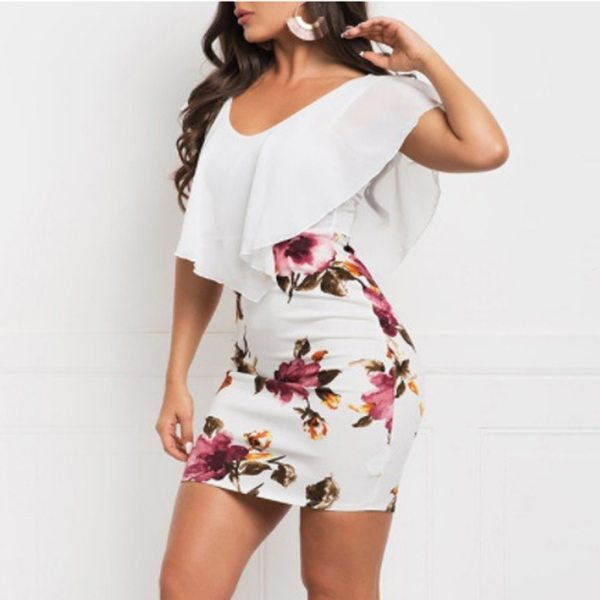 SAGACE Sexy Women Dress 2019 Plus Size Sleeveless Floral Printed Bodycon Holiday Party Short Casual Mini 2 SAGACE Sexy Women Dress 2019 Plus Size Sleeveless Floral Printed Bodycon Holiday Party Short Casual Mini dress summer Dress new
