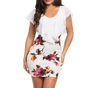 SAGACE Sexy Women Dress 2019 Plus Size Sleeveless Floral Printed Bodycon Holiday Party Short Casual Mini Innrech Market.com