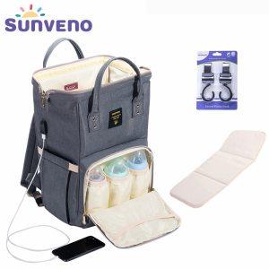 SUNVENO Fashion Mummy Maternity Diaper Bag Large Nursing Bag Travel Backpack Designer Stroller Baby Bag Baby Innrech Market.com