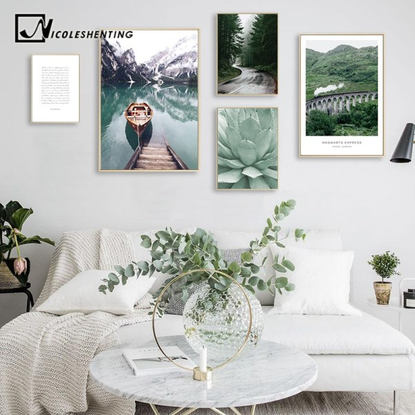 Scandinavian Boat Lake Canvas Poster Nature Nordic Style Landscape Wall Art Print Painting Decorative Picture Living Scandinavian Boat Lake Canvas Poster Nature Nordic Style Landscape Wall Art Print Painting Decorative Picture Living Room Decor