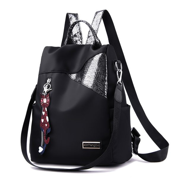 Simple style ladies backpack anti theft Oxford cloth tarpaulin stitching sequins juvenile college bag purse Bagpack 3 Simple style ladies backpack anti-theft Oxford cloth tarpaulin stitching sequins juvenile college bag purse Bagpack Mochila