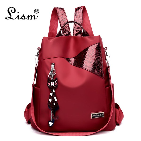 Simple style ladies backpack anti theft Oxford cloth tarpaulin stitching sequins juvenile college bag purse Bagpack Simple style ladies backpack anti-theft Oxford cloth tarpaulin stitching sequins juvenile college bag purse Bagpack Mochila