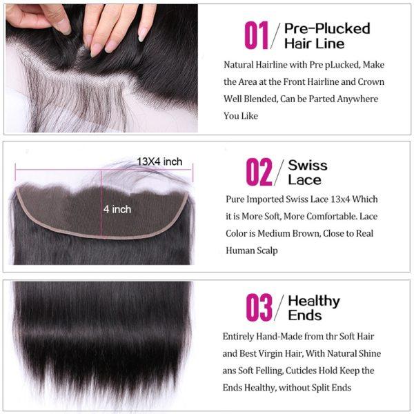 UEENLY Brazilian Straight Hair Bundles With Frontal Human Hair Bundles With Closure Remy Hair 3 Bundles 2 UEENLY Brazilian Straight Hair Bundles With Frontal Human Hair Bundles With Closure Remy Hair 3 Bundles With 13x4 Closure