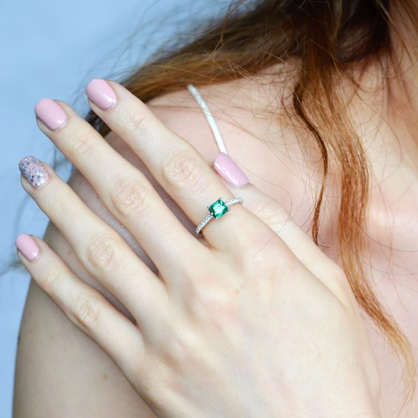 UMCHO Green Emerald Gemstone Rings for Women Genuine 925 Sterling Silver Fashion May Birthstone Ring Romantic 5 UMCHO Green Emerald Gemstone Rings for Women Genuine 925 Sterling Silver Fashion May Birthstone Ring Romantic Gift Fine Jewelry