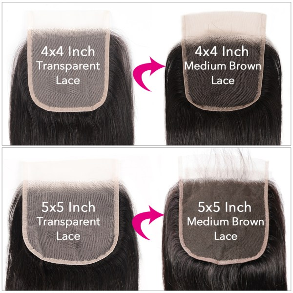 UNice Hair Transparent Lace With Closure 8 30 Malaysian Straight Hair 3 Bundles with Closure Remy 3 UNice Hair Transparent Lace With Closure 8-30 Malaysian Straight Hair 3 Bundles with Closure Remy Human Hair Extension Bundles