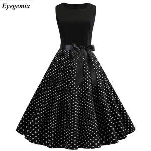 Women Summer Dresses 2019 Robe Vintage 1950s 60s Pin Up Big Swing Party Work Wear Rockabilly Innrech Market.com