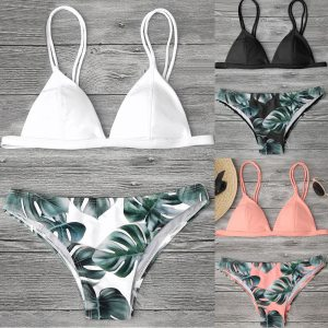 Women s Swimming Suit Sexy Bikini Swimsuit Women Swimwear Bikini Set Print Leaves Push Up Padded Innrech Market.com