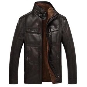 XingDeng PU Brand High Leather Jacket Men Coats plus 5XL Quality Outerwear Men Business Winter Innrech Market.com