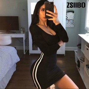 ZSIIBO Casual Tight Dress Women Fashion Sexy Stretch Slim Dresses Ladies Summer Striped Tank Mini Dress Innrech Market.com