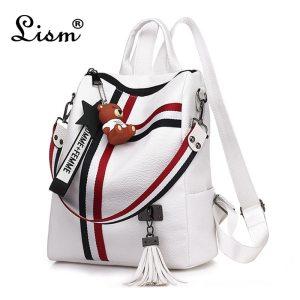 bags for women 2019 new retro fashion zipper ladies backpack PU Leather high quality school bag Innrech Market.com