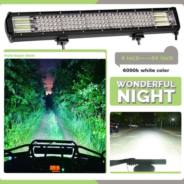 weketory Quad Rows 4 44 Inch LED Bar LED Light Bar for Car Tractor Boat OffRoad 2 weketory Quad Rows 4 - 44 Inch LED Bar LED Light Bar for Car Tractor Boat OffRoad Off Road 4WD 4x4 Truck SUV ATV Driving 12V 24V