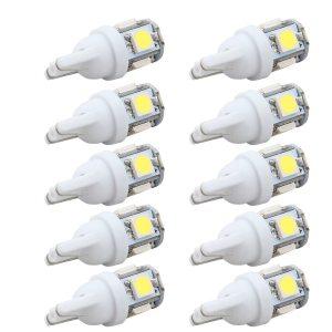 10PCS Led Car DC 12v Lampada Light T10 5050 Super White 194 168 w5w T10 Led Innrech Market.com