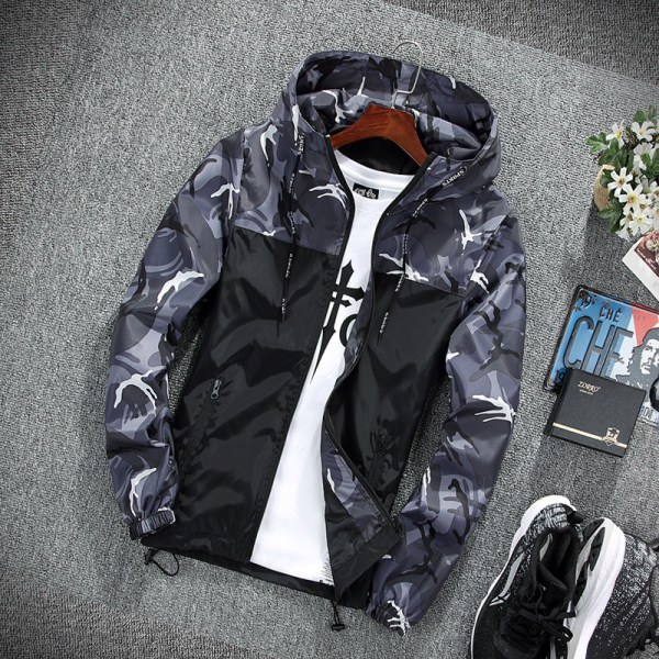 2019 Men s wear casual camouflage jacket of Slim handsome spring autumn casual solid color large 1 2019 Men's wear casual camouflage jacket. of Slim handsome spring autumn casual solid color large size baseball clothes