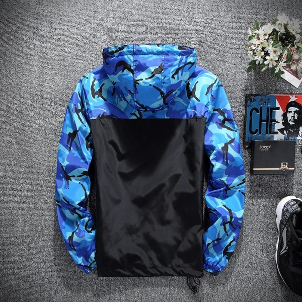 2019 Men s wear casual camouflage jacket of Slim handsome spring autumn casual solid color large 3 2019 Men's wear casual camouflage jacket. of Slim handsome spring autumn casual solid color large size baseball clothes