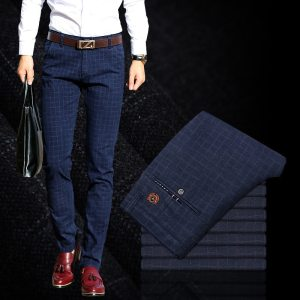 2019 New Pants Men Spring Summer Fashion Commerce Casual Pants Men Straight Business Suit Trousers brand Innrech Market.com