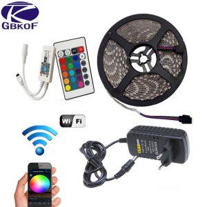 5M 10M 15M WiFi RGB LED strip light Waterproof SMD5050 3528 2835 DC 12V led tiras Innrech Market.com