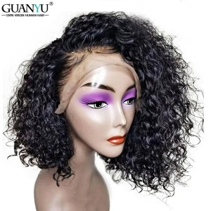 Curly Human Hair Wig Brazilian Remy Short Bob Lace Front Human Hair Wigs With Baby Hair Innrech Market.com