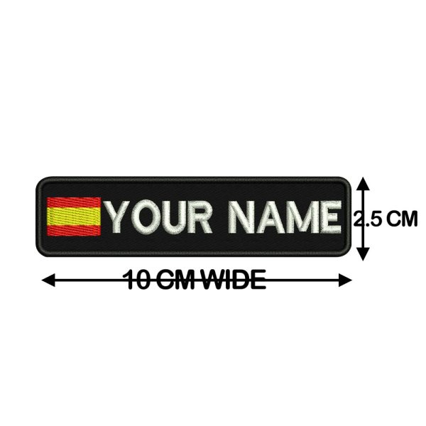 Custom SPAIN name patches tags personalized iron on hook backing 2 Custom SPAIN name patches tags personalized iron on hook backing