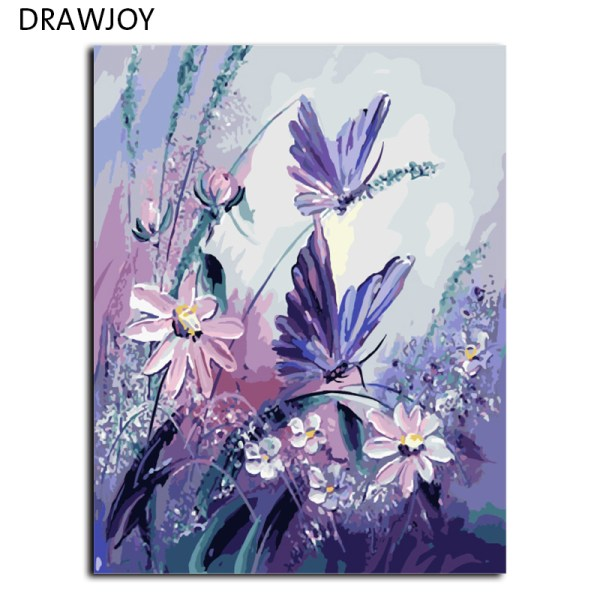 DRAWJOY Frameless Pictures Painting By Numbers Handpainted On Canvas DIY Oil Painting By Numbers 40 50cm DRAWJOY Frameless Pictures Painting By Numbers Handpainted On Canvas DIY Oil Painting By Numbers 40*50cm Butterfly G406