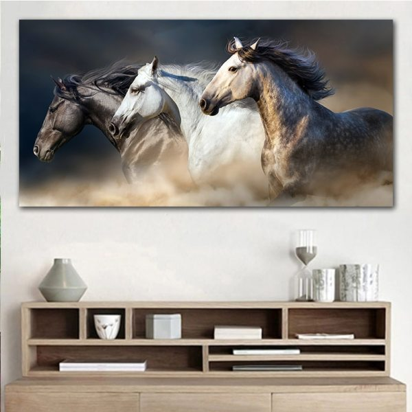 GOODECOR The Running Horse Canvas Art Animal Wall Art Poster Pictures For Living Room Home Decor GOODECOR The Running Horse Canvas Art Animal Wall Art Poster Pictures For Living Room Home Decor Wall Canvas Print Painting