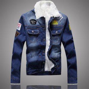 Men Jacket and Coat Trendy Warm Fleece Denim Jacket 2019 Winter Jean Jacket Thick Winter Coat Innrech Market.com