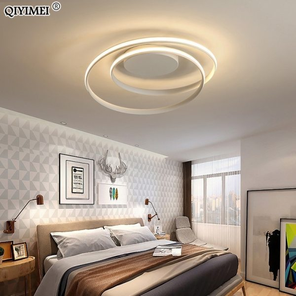 Modern Ceiling Lights LED Lamp For Living Room Bedroom Study Room White black color surface mounted 1 Modern Ceiling Lights LED Lamp For Living Room Bedroom Study Room White black color surface mounted Ceiling Lamp Deco AC85-265V
