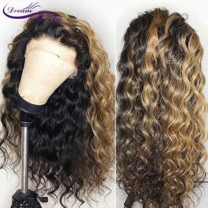 Ombre Highlight Color Lace Front Human Hair Wigs with Baby Hair Pre Plucked Hairline Remy Brazilian Innrech Market.com