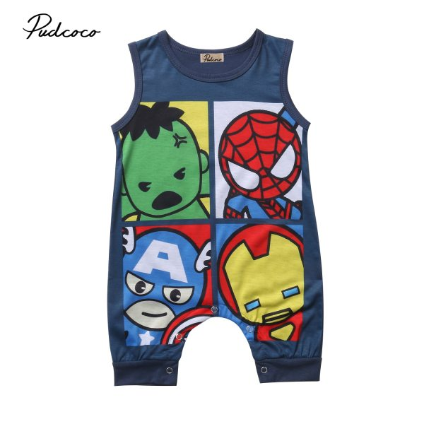 Pudcoco Newborn Baby Boy Girl Romper 2018 Summer Cartoon Sleeveless O Neck Cotton Clothes Toddler Kids Pudcoco Newborn Baby Boy Girl Romper 2018 Summer Cartoon Sleeveless O Neck Cotton Clothes Toddler Kids Jumpsuit Clothing 0-24M