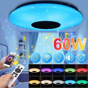 Smuxi 60W 102LED bluetooth LED Music Ceiling Lights Starry APP Remote Control Dimming RGB bluetooth LED Innrech Market.com