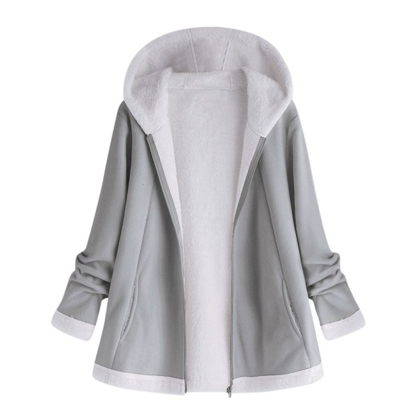 women s autumn jacket Winter warm solid Plush Hoodie Coat Fashion Pocket Zipper Long Sleeves outwear women's autumn jacket Winter warm solid Plush Hoodie Coat Fashion Pocket Zipper Long Sleeves outwear manteau femme plus size 5XL