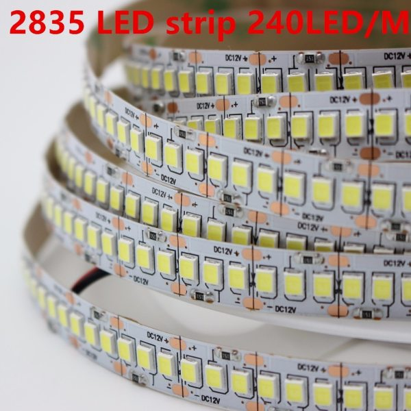 1m 2m 3m 4m 5m lot 10mm PCB 2835 SMD 1200 LED Strip tape DC12V ip20 1m 2m 3m 4m 5m/lot 10mm PCB 2835 SMD 1200 LED Strip tape  DC12V ip20 Non waterproof Flexible Light 240 leds/m, White Warm White