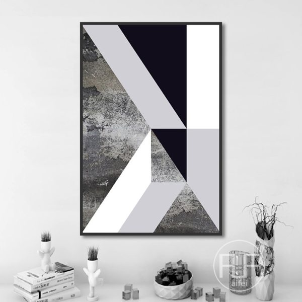 Abstract Geometric Canvas Painting Black and White Nordic Posters and Prints Wall Art Picture for Living 2 Abstract Geometric Canvas Painting Black and White Nordic Posters and Prints Wall Art Picture for Living Room Decor No Frame