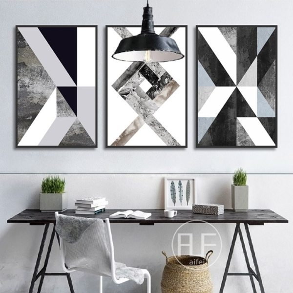 Abstract Geometric Canvas Painting Black and White Nordic Posters and Prints Wall Art Picture for Living Abstract Geometric Canvas Painting Black and White Nordic Posters and Prints Wall Art Picture for Living Room Decor No Frame