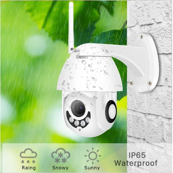 BESDER 1080P H 265 Speed Dome Outdoor WiFi Wireless Pan Tilt IP Camera 2 Way Audio 1 BESDER 1080P H.265 Speed Dome Outdoor WiFi Wireless Pan Tilt IP Camera 2 Way Audio SD Card IR Vision IP ONVIF Video Surveillance